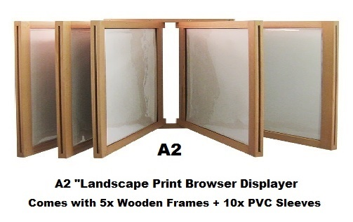 A2 Landscape Wooden Swing Displayer Wall Mounted