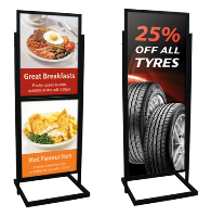 Flip File Poster Displayers Freestanding Flip Files